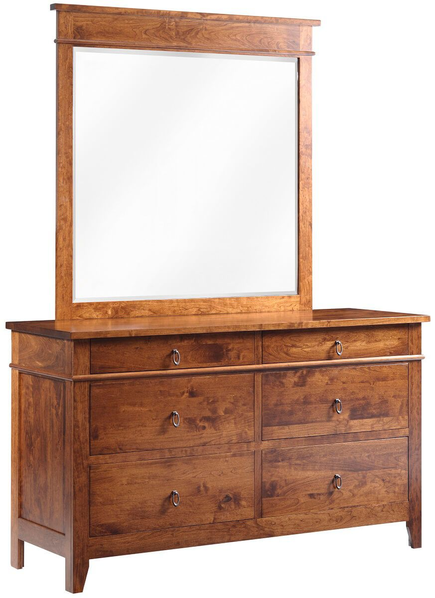 Sonoran Mirror Dresser in Rustic Cherry