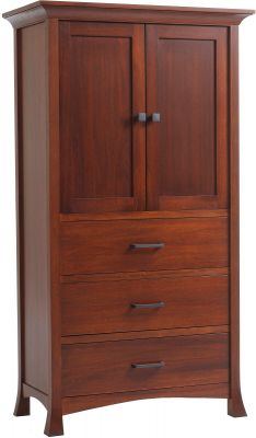 Villa Bedroom Armoire in Cherry