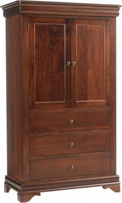 Vincennes Solid Wood Armoire
