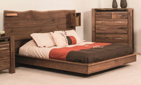 Phoenix Live Edge Bed Countryside Amish Furniture