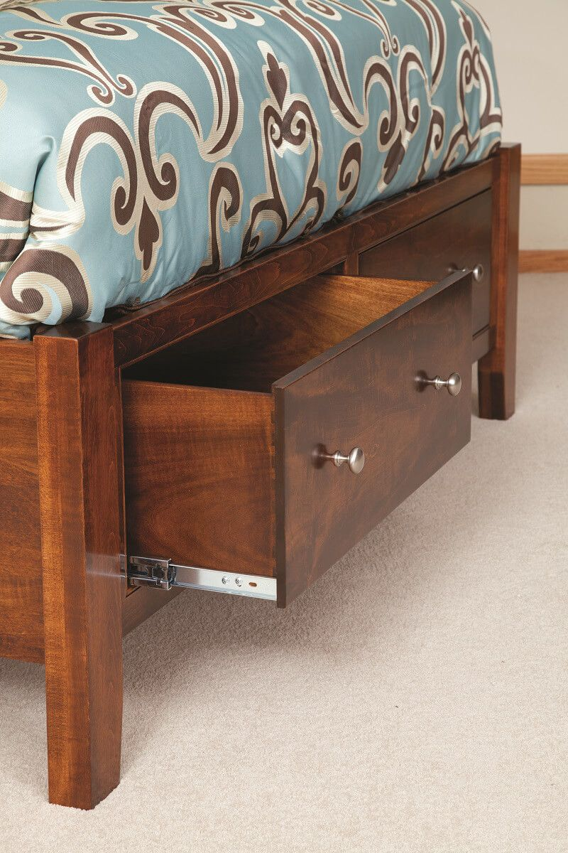 Side-Mounted Under Bed Drawers