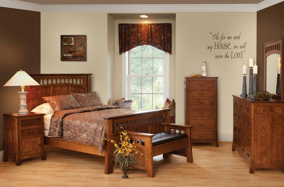 mission style bedroom furniture  countryside amish furniture, Bedroom decor