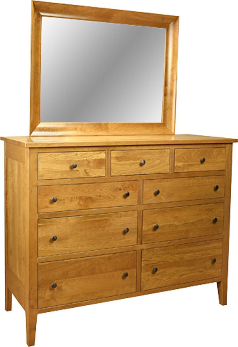 Blaire Tall Dresser With Mirror Countryside Amish Furniture