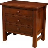 Wyndham 3-Drawer Nightstand