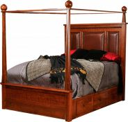 Wyndham Leather Upholstered Canopy Bed