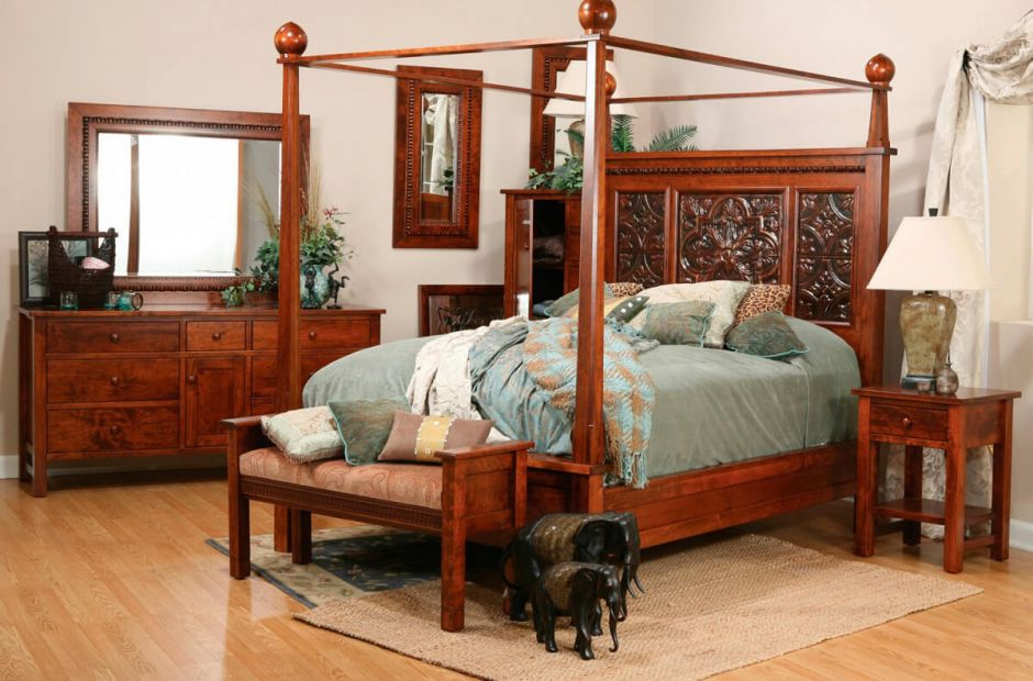 Wyndham Solid Wood Bedroom Set - Countryside Amish Furniture