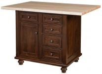 Forrest City 5-Drawer Kitchen Island