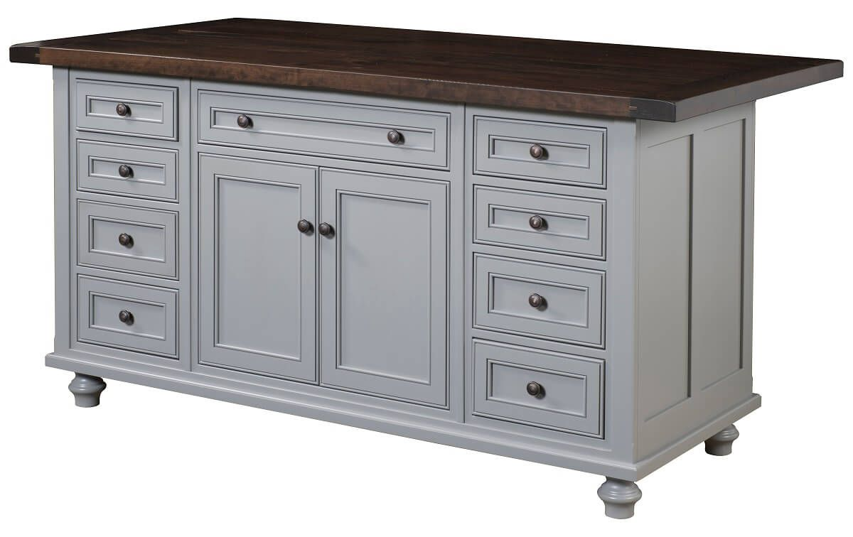 Forrest City Large Kitchen Island Countryside Amish Furniture