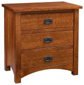 Muskogee 3-Drawer Bedside Table