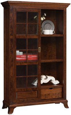 Ava Sliding Door Bookcase And Display Countryside Amish