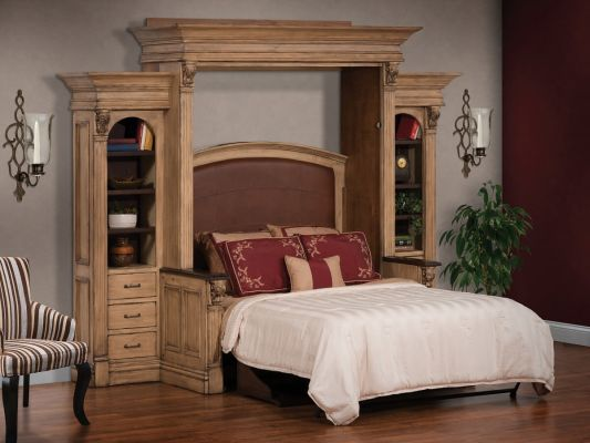 Brussels Queen Murphy Wall Bed Countryside Amish Furniture