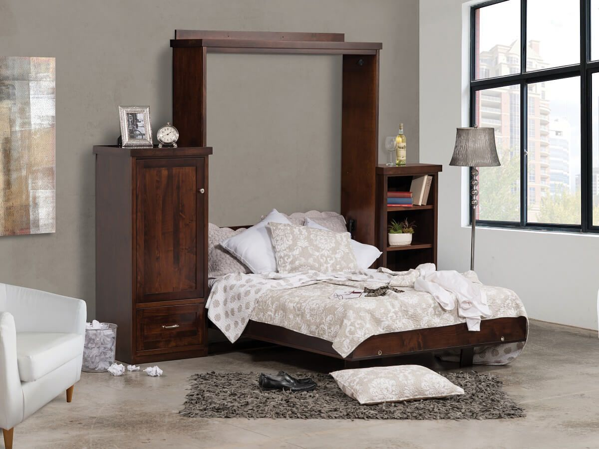 Amish Made Murphy Bed in Cherry