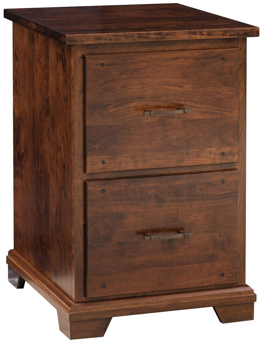 Peabody Brown Maple File Cabinet - Countryside Amish Furniture
