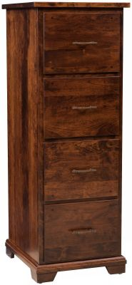 Peabody Brown Maple File Cabinet Countryside Amish Furniture