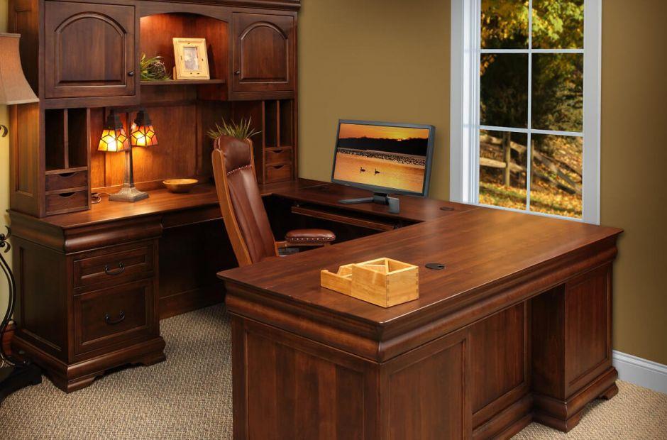 St Gallen Hardwood Office Furniture, Solid Wood Office Furniture