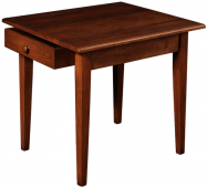 St Augustine End Table with Drawer
