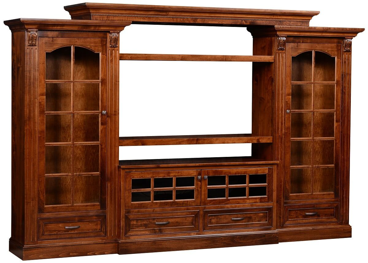 Brown Maple Wall TV Unit