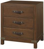 Bureau 3-Drawer Nightstand