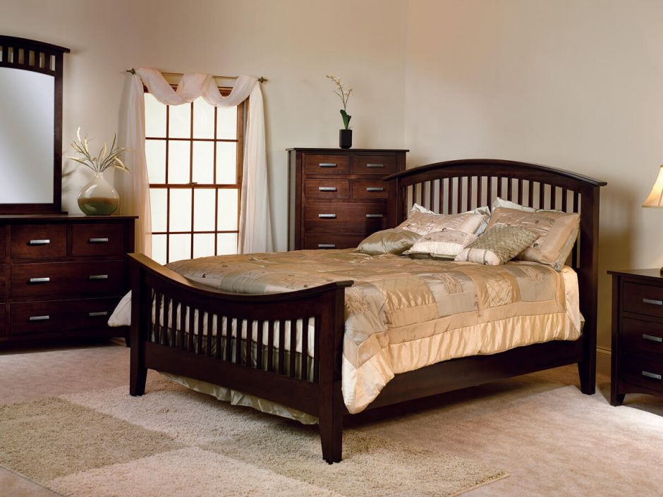The Mission Canyon Bedroom Furniture Set Is Pictured In A Combination Of  Quartersawn White Oak With A Medium Finish Color.