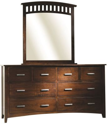 Cannes Mission Slat Mirror Dresser