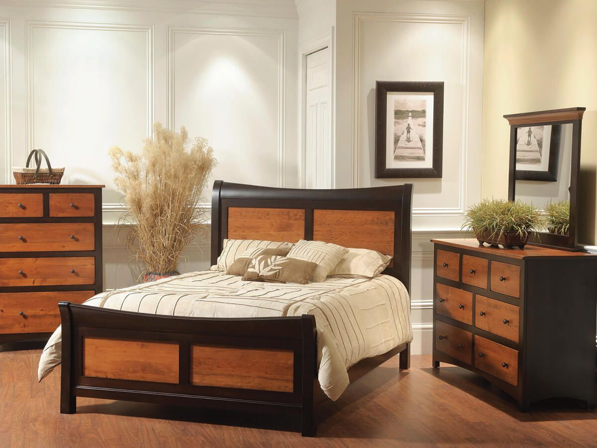Two Tone Amish Bedroom Collection