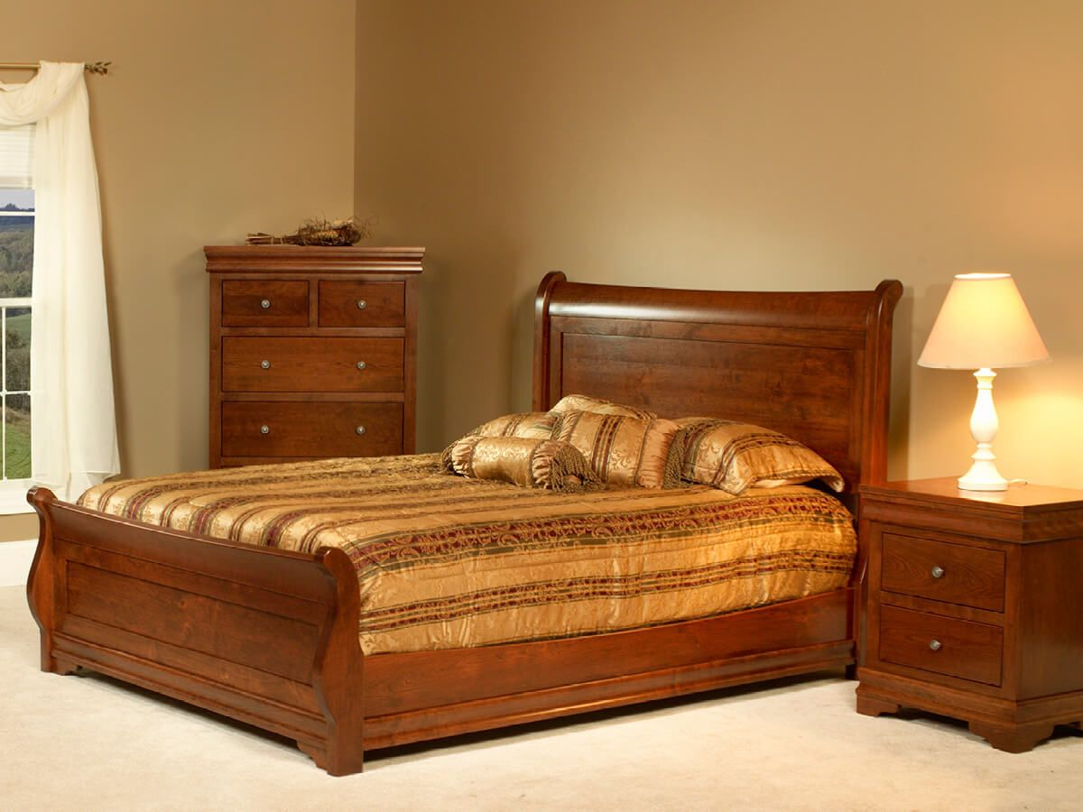 Cherry Amish Bedroom Collection