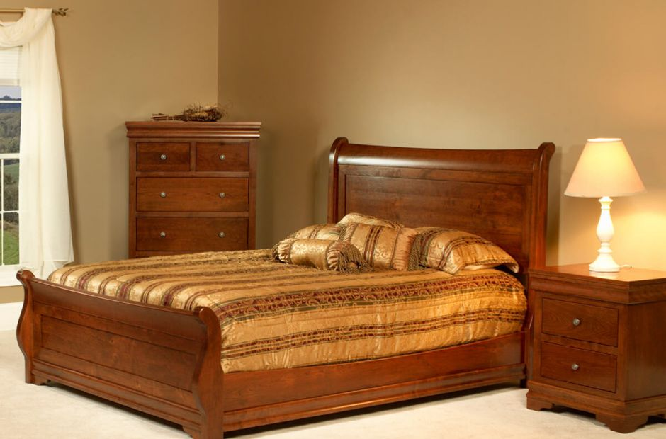 Marseille Sleigh Bedroom Furniture Set Countryside Amish