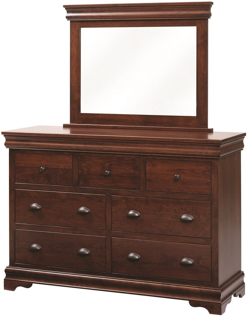 Marseille Mirror Dresser in Rustic Cherry