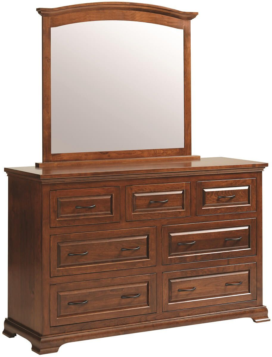 Oxford Mirror Dresser in Rustic Cherry