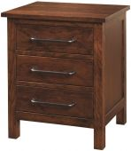 Wesley 3-Drawer Nightstand