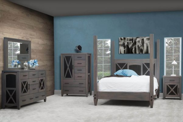 the cypress creek bedroom set is comprised of grey bedroom furniture handcrafted by our amish artisans from rough sawn maple though this bedroom collection - Grey Bedroom Furniture Set