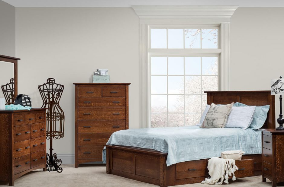 Alameda Solid Wood Amish Bedroom Set Countryside Amish Furniture