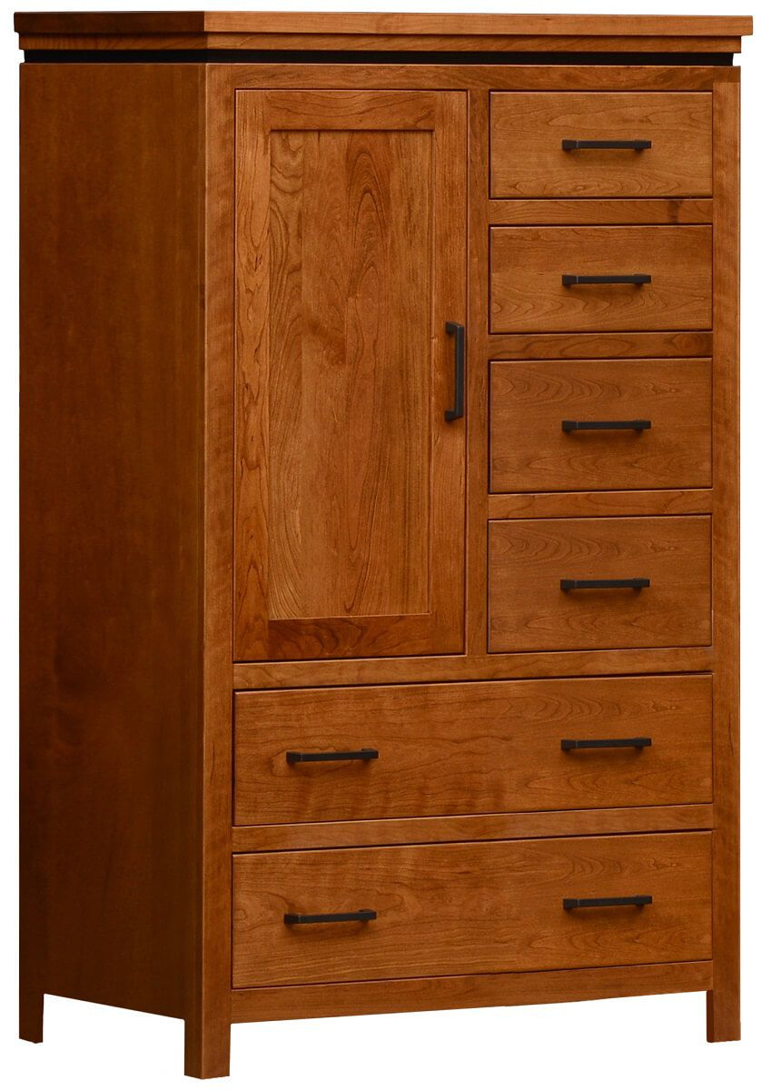Avondale Solid Wood Chifferobe in Cherry