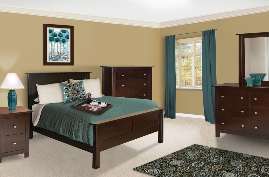 madison bedroom set amish handcrafted brown maple bedroom furniture
