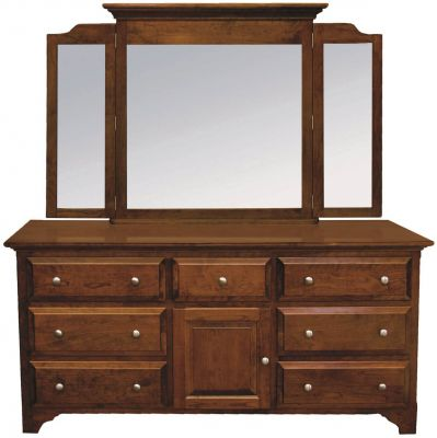 Montgomery Solid Wood Dresser with Mirror