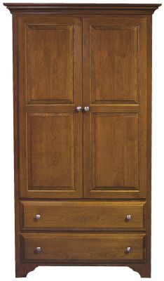 Montgomery Solid Wood Wardrobe in Cherry