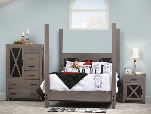 Modern Gray Bedroom Set