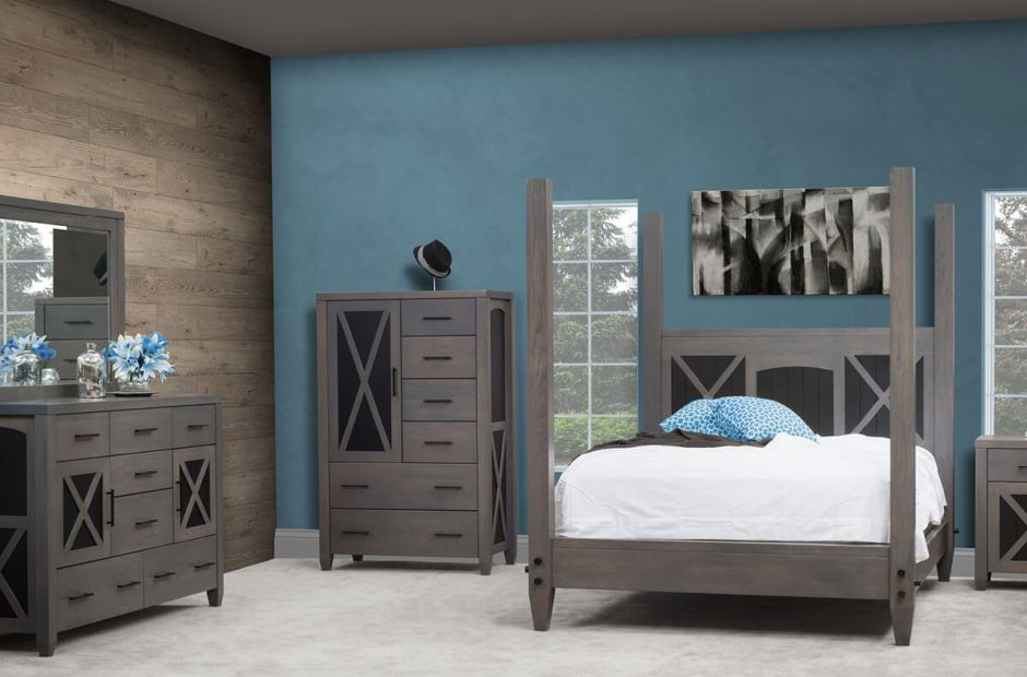 Napa Modern Grey Bedroom Set Countryside Amish Furniture
