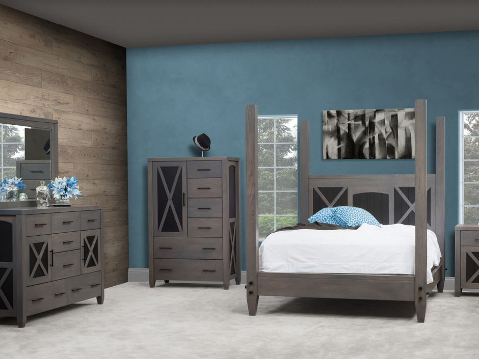 Grey Bedroom Furniture Napa Grey Chest Armoire  Countryside Amish Furniture