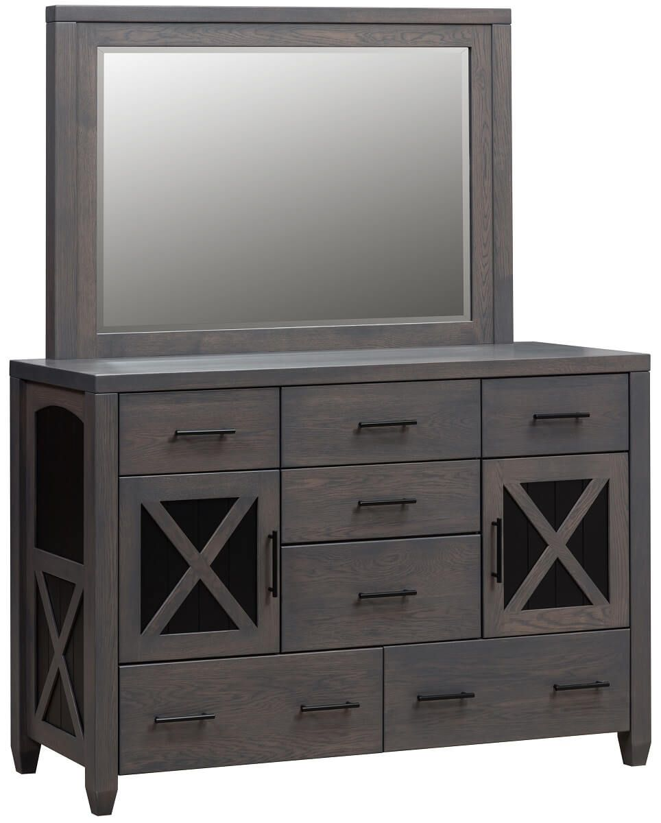 Napa Solid Wood Mirror Dresser