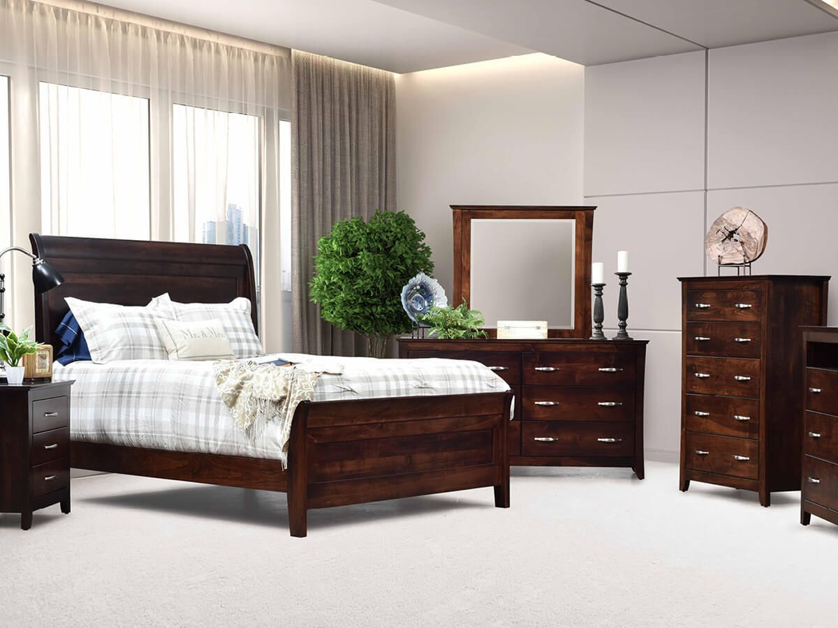 Modern Hardwood Bedroom Set