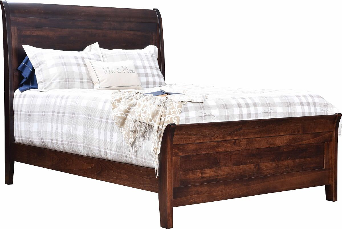 Modern Amish Sleigh Bed