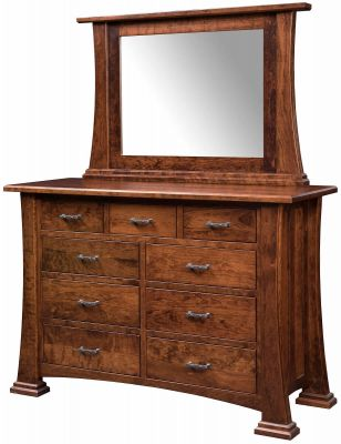 Ottawa Rustic Dresser With Mirror Countryside Amish