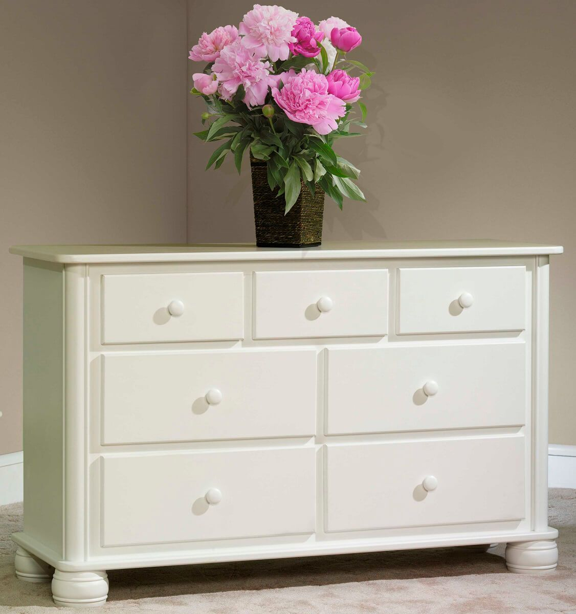 Denbigh Dresser in Brown Maple painted white