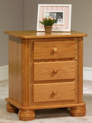 Denbigh Bedside Table in Oak with Summer Sun finish