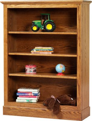 Geneva Amish Bookcase in Oak with Spiced Apple stain