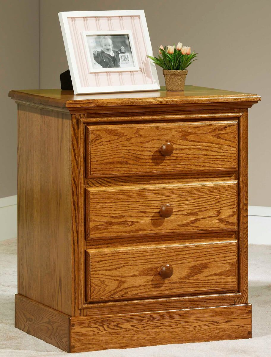 Geneva Nightstand in Oak with Spiced Apple stain