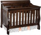 Geneva Panel Crib in Brown Maple with Venezuelan Chocolate stain