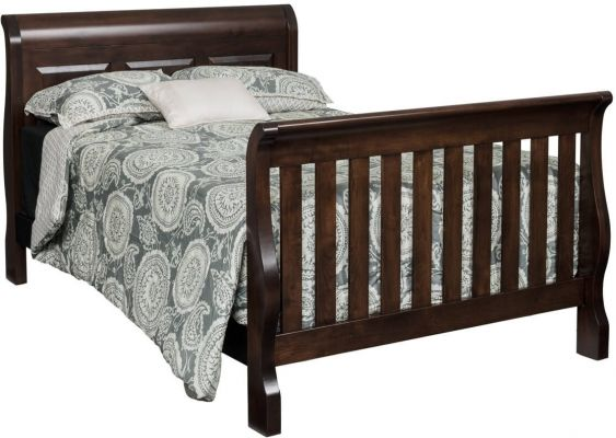 Geneva Panel Sleigh Crib - Countryside Amish Furniture