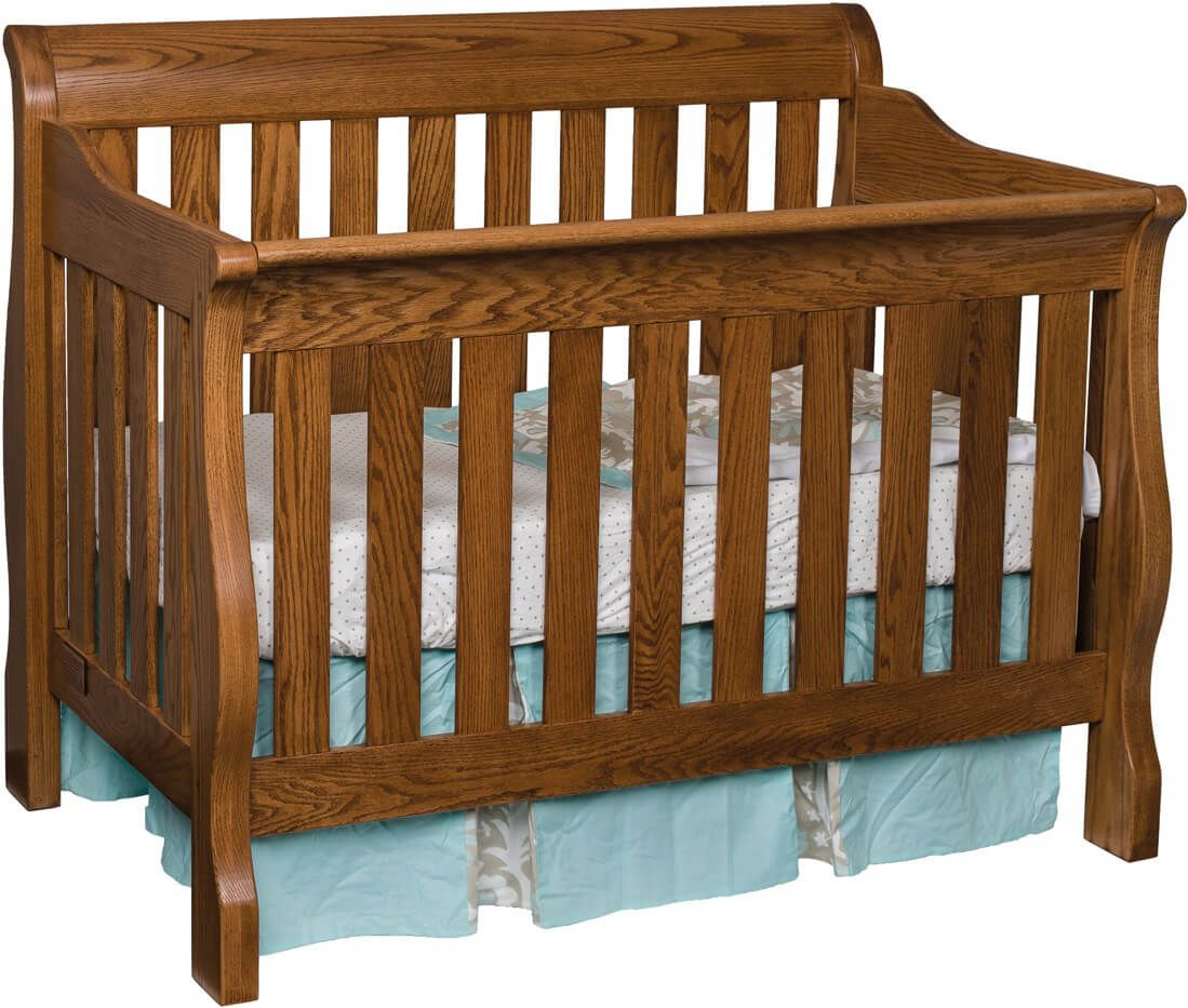 Geneva Slat Crib in Oak with our Spring Twig stain